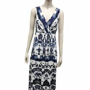Matty M Crossover Front Maxi Dress Size S